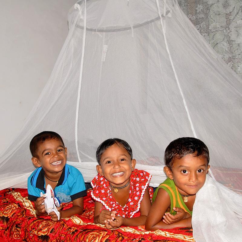 Seven mosquito nets
