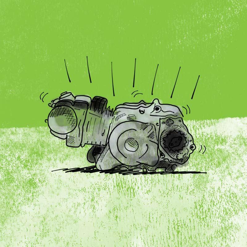 Postie bike motor