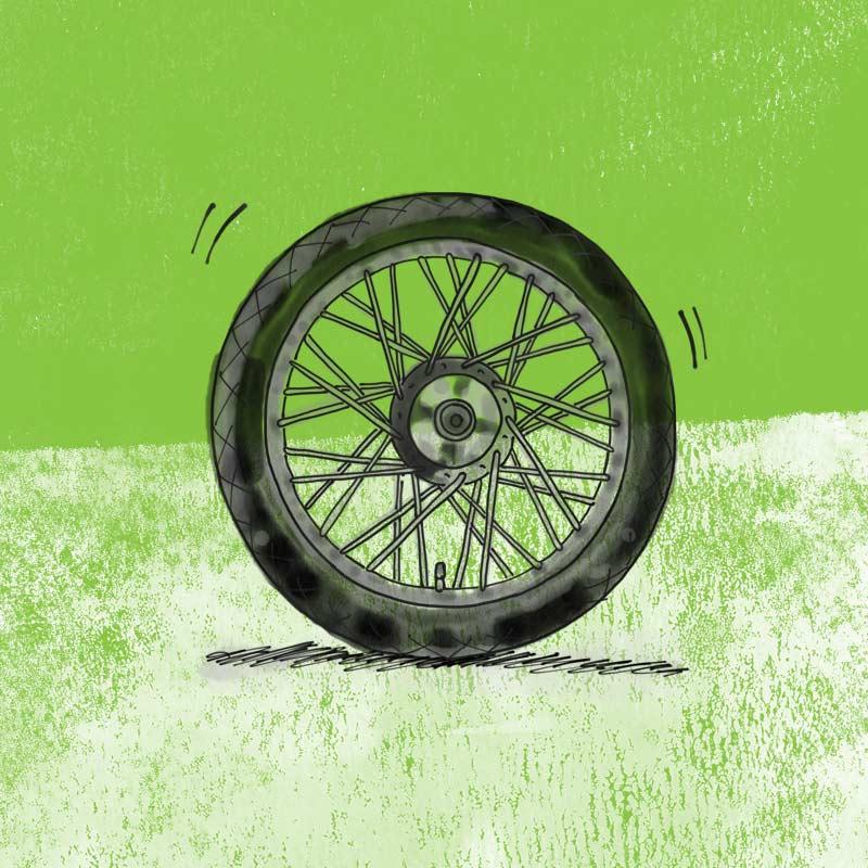 Postie bike wheel